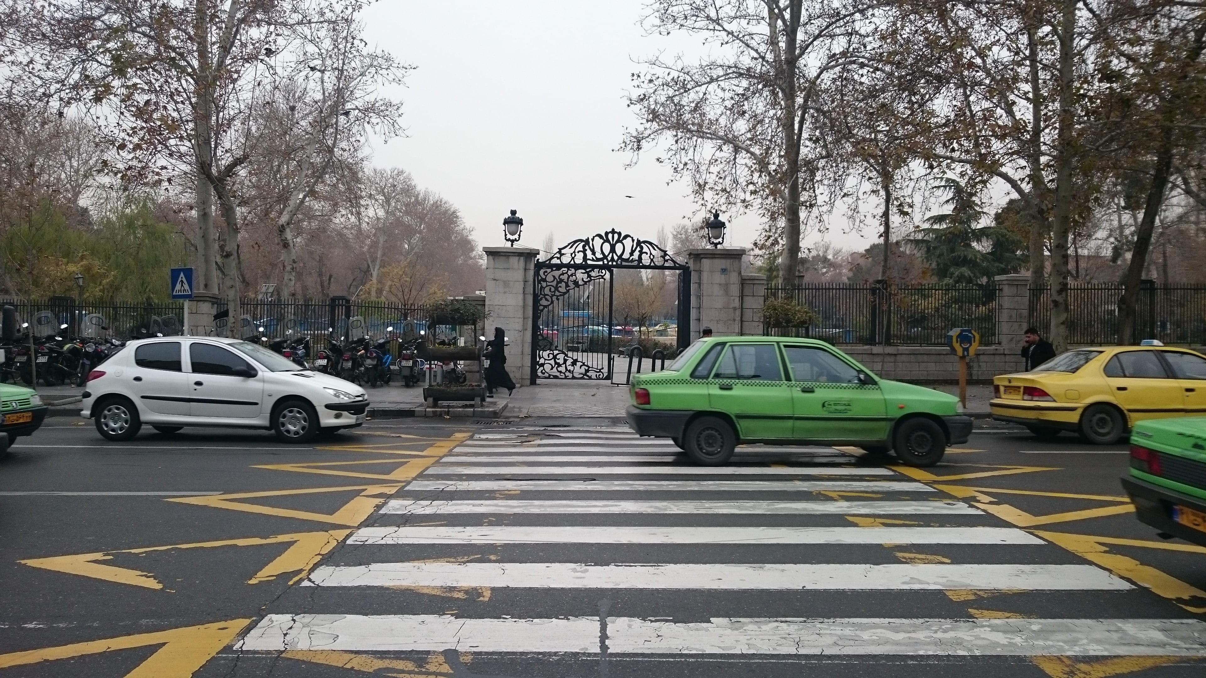 Getting a taxi in Tehran