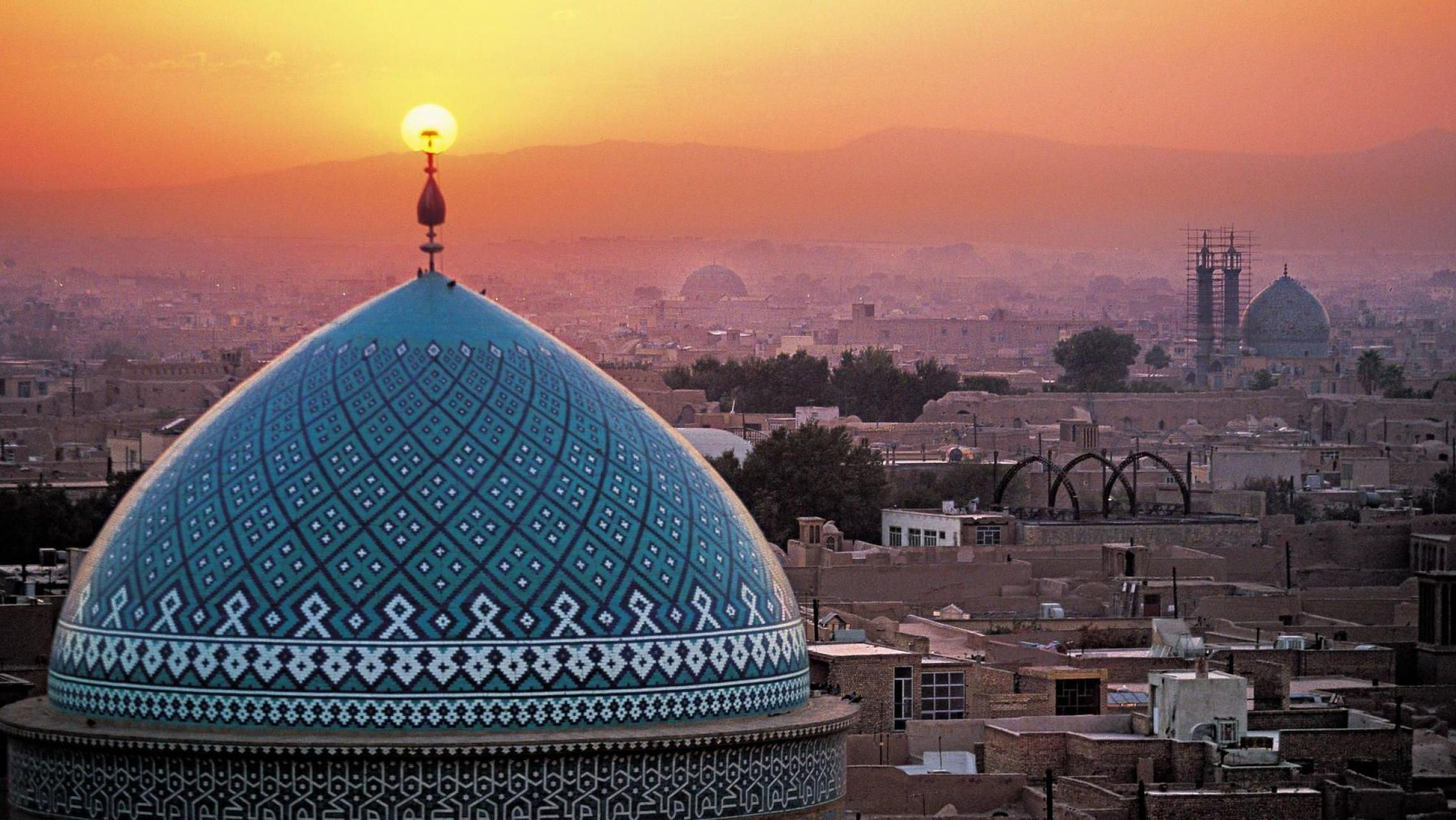 jame-mosque-aerial-view-sunset-yazd-iran