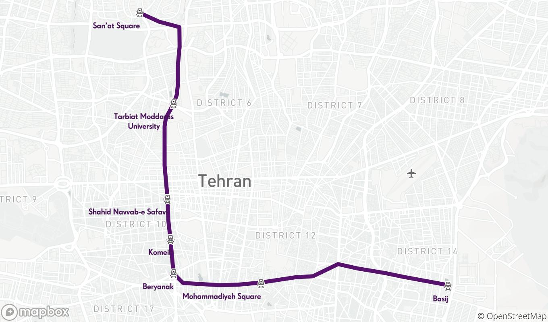 tehran line 7 metro