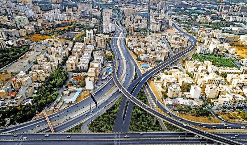 Sayyad Shirazi Highway in Tehran