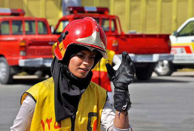 Tehran Female Firefighter